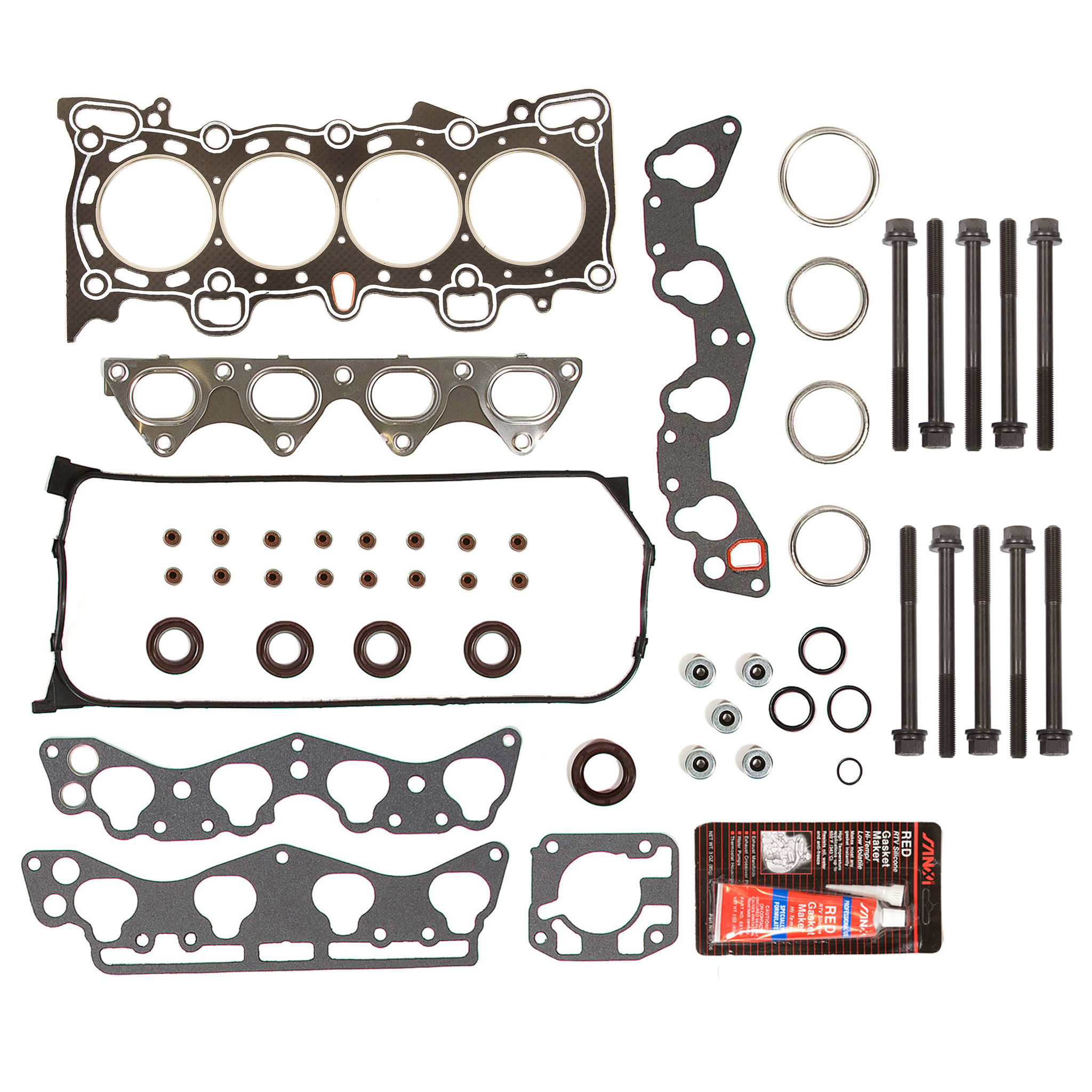 Graphite Full Gasket Set Fit 96-00 Honda Civic Del Sol D16Y5 D16Y7 D16Y8 D16B5